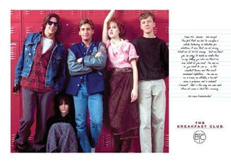 Film Breakfast Club Cast Shot Around Lockers Poster 91.5x61cm