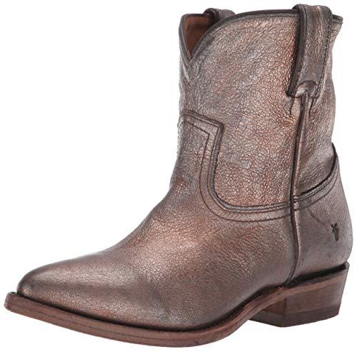 FRYE Women's Billy Short Ankle Boot Golden Silver 7.5 M US