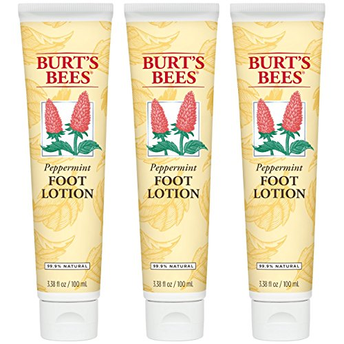 (Burt's Bees Peppermint Foot Lotion - 3.38 Ounce Tube (Pack of 3))