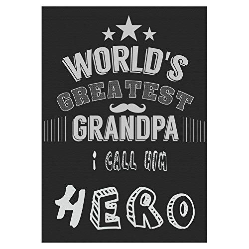 HUVATT Greatest Grandpa Hero Quote Polyester Garden Flag Outdoor Banner 28 x 40 inch, Grandparent's Day Decorative Large House Flags for Wedding Party Yard Home Decor