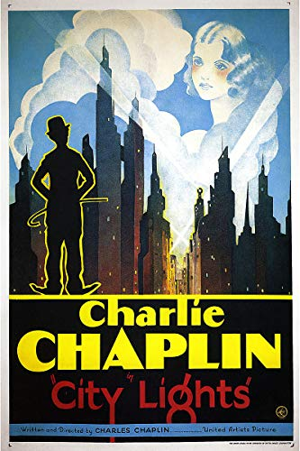American Gift Services - City Lights Vintage Charlie Chaplin Movie Poster (2) - - Posters Chaplin Charlie Movie