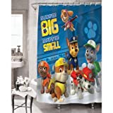 Paw Patrol Bathroom Set, Shower Curtain, Hooks, Bath Mat, Bath Rug and Bath Towel