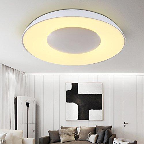 BLYC- Kreative LED Lampe Schlafzimmer Licht romantisches Studie Beleuchtung minimalistische moderne Runde Decke Deckenleuchte 430 * 70mm , 44cm white light