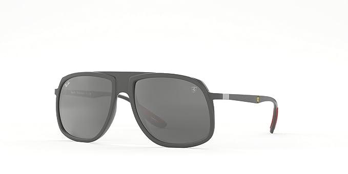 Rayban 0RB4308M F6266G 58, Gafas de Sol para Hombre, Matte Grey Mirror Silver