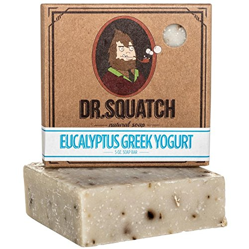 Exfoliating Soap for Men with Oatmeal Scrub - Eucalyptus Greek Yogurt - Man's Delight with Moisturizing Yogurt and Organic Eucalyptus Oil - Handmade in USA by Dr. Squatch (Dr Oz Best Greek Yogurt)