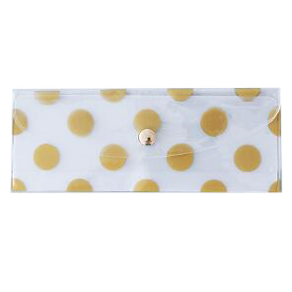 2PCS Cute File Bag Stationery Bag Pouch File Envelope for Office/School Supplies, Small Gold