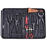 14Pcs Bonsai Tool Set Carbon Steel Extensive Cutter Scissors Kit With Nylon Case For Pruning set2