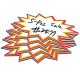 5-Pcs Magnetic Starburst Sign Tags, Dry Erase Magnets for Store/Market Retail, Writable Magnets 4 x 5.8 Inches