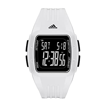 Oblea Pera Quizás  Buy Men's Adidas Duramo White Silicone Strap Digital Watch ADP3263 Online  at Low Prices in India - Amazon.in