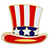 PinMart's Uncle Sam Hat Patriotic American Fourth of July Enamel Lapel Pin