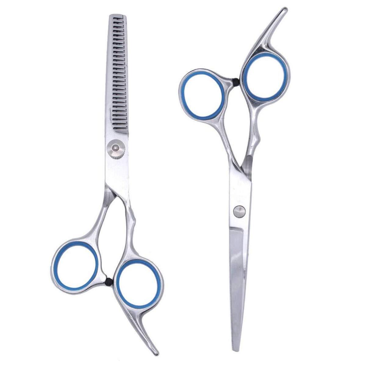 Hair Cutting Scissors Set, Professional Barber Thinning Haircut Scissors Kit Stainless Steel Salon Razor Scissor