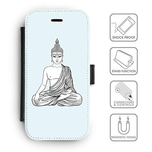 Flip PU Leather Wallet Case avec des fentes de carte de crédit // Q07720619 Bouddha 8 Bulles // apple iphone 7 2016