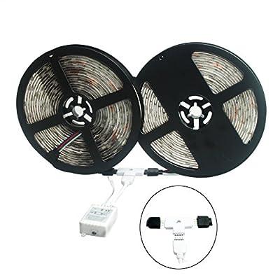 ALED LIGHT? 2x5M 5050 RGB 150 LED Waterproof LED Strip Light+ 6A Power Supply