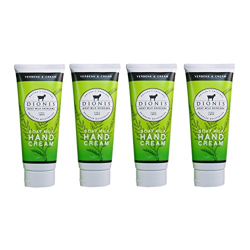 Dionis Goat Milk Hand Cream 4 Piece Travel Gift Set – Verbena & Cream