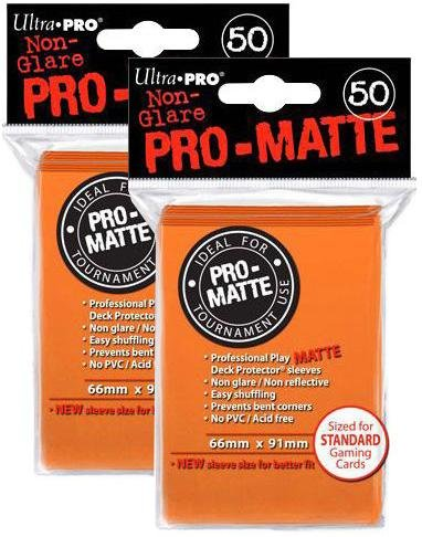 Orange Deck Protector Sleeves Pro-Matte Ultra Pro Magic the Gathering NA 100 Count