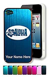 Engraved Aluminum iPhone 4/4S Case/Cover - ALOHA / TROPICAL - Personalized for FREE (Click the CONTACT SELLER button after purchase and send a message with your case color and engraving request)