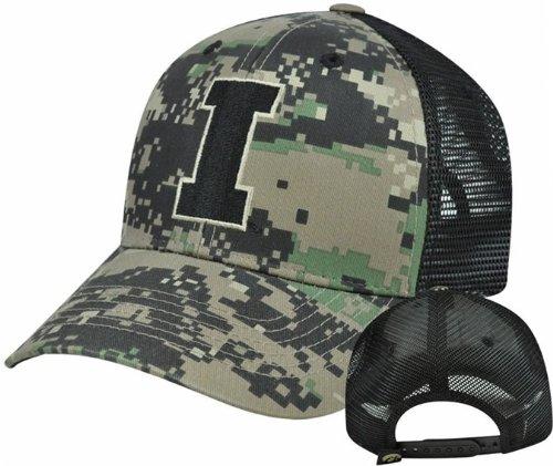 NCAA Iowa Hawkeyes Digital Camo Camouflage Curved Bill Mesh Snapback Hat Cap (Iowa Hawkeyes Camo)