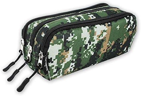 EA4726 - Estuche de camuflaje militar con 3 cremalleras, cuatro diseños a elegir (Militar 1): Amazon.es: Oficina y papelería