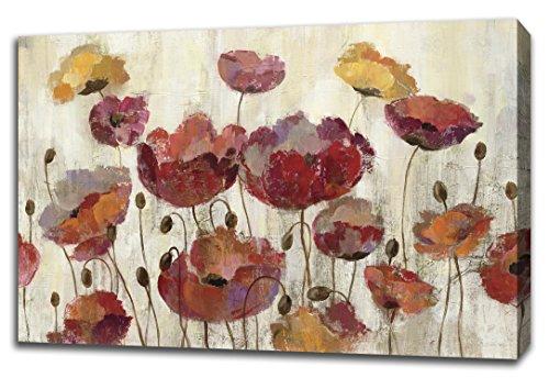 "Tangletown Fine Art Poppies in the Rain by Silvia Vassileva, Digitally Printed Gallery Wrap Canvas Art Painting. 30""x45"" Wall from Tangletown Fine Art"