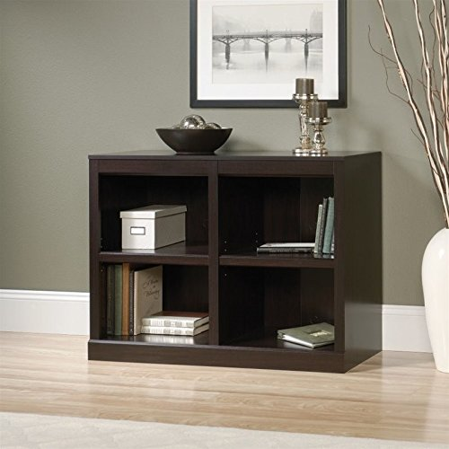 Sauder Office Furniture 2 Shelf Bookcase in Jamocha Wood