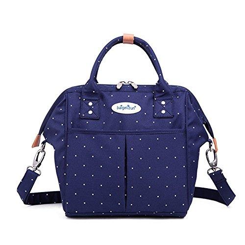 de sac bandoulière portatif point wave Blue multifonctionnel mère wave bébé sac Sac Couleur Blue point à sac sac main à pour maman f76qpdpIw