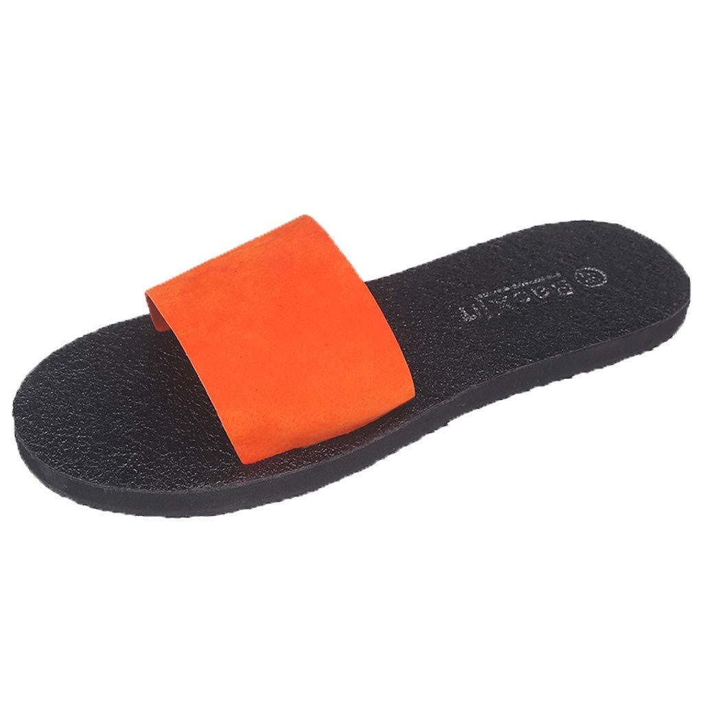 5f1495ebc78e Amazon.com  Seamount Womens Flat Slides Slippers Sandals Summer Beach  Sandals Rain Shoes (US 7.0
