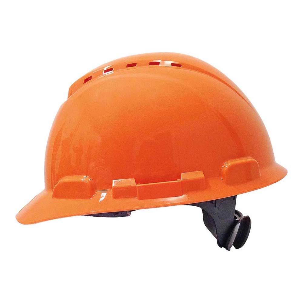 3M H700NOR - H700 Casco con ventilación, naranja, arnés de ruleta ...