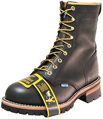 Cactus Hombres 9 9219 Steel-toe Logger Bota Black