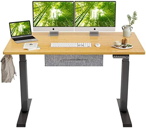 FEZIBO Electric Height Adjustable Standing Desk - a good cheap home office desk