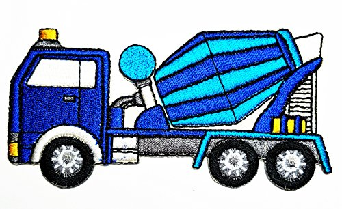 (HHO Concrete Truck Concrete Mixer Patch Embroidered DIY Patches, Cute Applique Sew Iron on Kids Craft Patch for Bags Jackets Jeans Clothes )