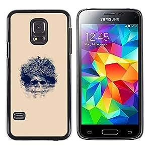 Stuss Case / Funda Carcasa protectora - Afro Cráneo floral - Pop Art - Samsung Galaxy S5 Mini, SM-G800