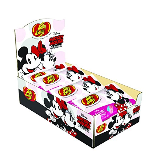 Jelly Belly Minnie Mouse Jelly Beans, Assorted Flavors, 1-oz, 24 Pack Disney Gourmet Mickey Mouse