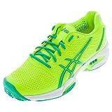 ASICS Women's Gel-Solution Speed 2 Tennis Shoe,Flash Yellow/Mint/Sharp Green,5 B(M) US