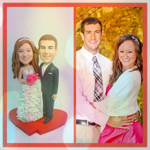 - Model 66 Fully Customized Bobble-head Polymer Clay Figurines/sculpture From Head to Toe Based on Customers' Photos Using As Wedding Cake Topper, Gifts, Souvenirs, Decorations