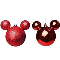 Enfeite Bolas Disney 6 cm - Cromus. 1718645 Único, Multicor