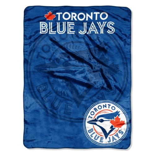 "Officially Licensed MLB Toronto Blue Jays Triple Play Micro Raschel Throw Blanket, 46"" x 60"""