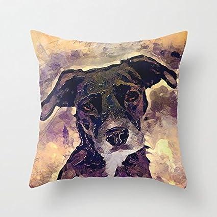 Bestseason San Valentín Día Funda de Almohada de Perros 18 x 18 pulgadas/45 por