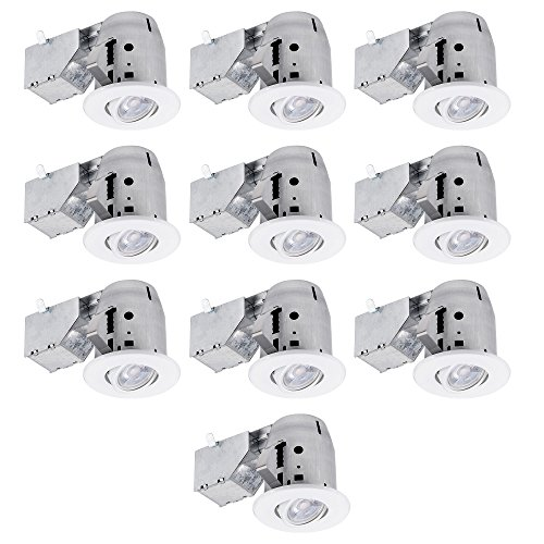 (Globe Electric 90953 Swivel Recessed Lighting (10 Pack), 4