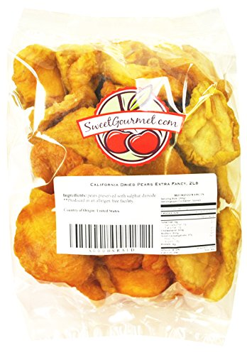 Dry Pears - Fancy Dried Fruits- Sun Dried California Pears, 2 lb