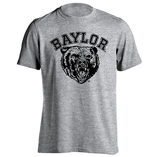 Baylor Bears Throwback Logo Short Sleeve T-Shirt (Athletic Heather-Black, Medium)