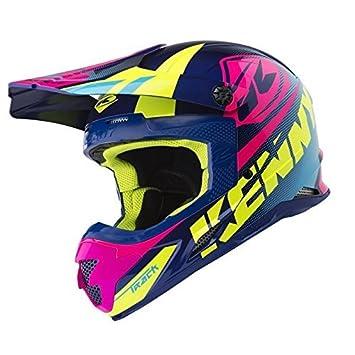 Kenny Track casco de Motocross 2018 – azul rosa, Blue, Pink