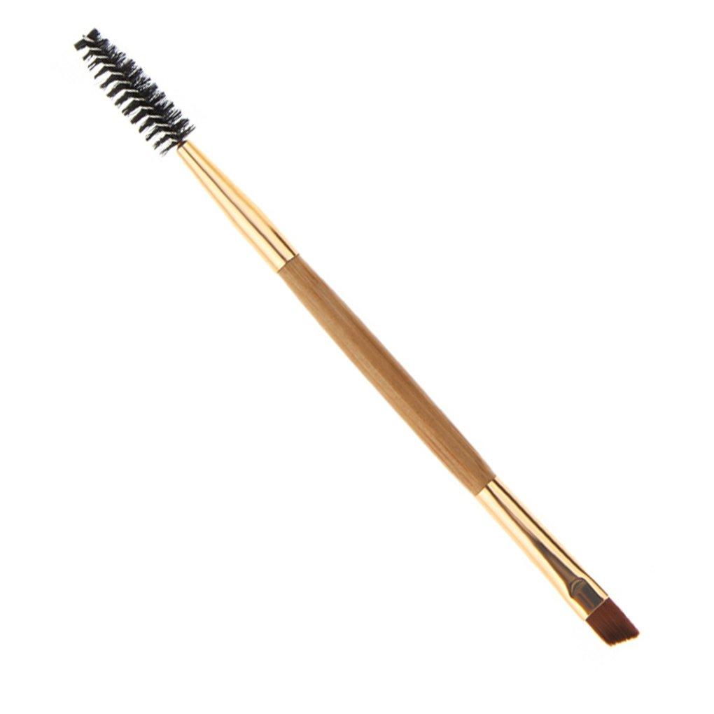Aiming Bamboo Spazzole doppia testa Maniglia Pro spazzola del sopracciglio del ciglio di trucco cosmetico attrezzo di bellezza