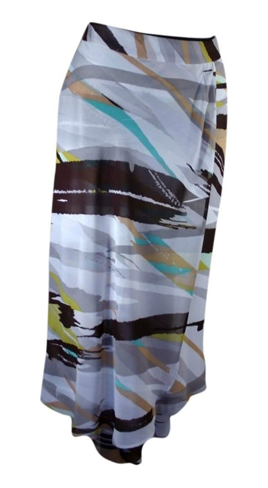 Antonio Melani Women's Handkerchief Skirt Brown Ivory Print (14)