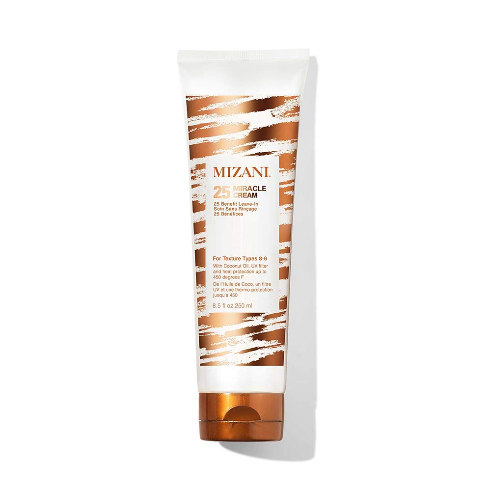 MIZANI 25 Miracle Leave-In Cream | Adds Lightweight Moisture & Touchable Softness | with Coconut Oil | for Curly Hair | 8.5 Fl Oz: Premium Beauty