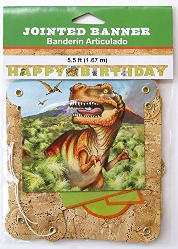 Dinosaur Themed Jointed Birthday Banner (5.5 feet) by Creative Converting]()