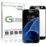 amFilm Galaxy S7 Screen Protector, Full Cover Tempered Glass Screen Protector for Samsung Galaxy S7 (1 Pack, Black)