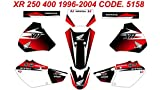 5158 HONDA XR 250 400 1996-2004 DECALS STICKERS GRAPHICS KIT