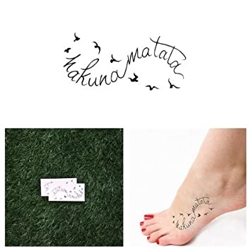 Tattify Hakuna Matata Temporary Tattoo Flight Set Of 2 Tattify