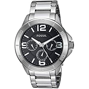 Fossil Men's Modern Century Quartz Stainless Steel Chronograph Watch, Color: Silver (Model: BQ2296)