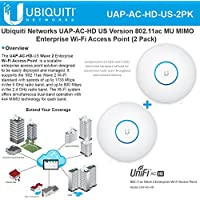Ubiquiti UAP-AC-HD US (2Pack) 802.11ac MU MIMO Enterprise Wi-Fi Access Point